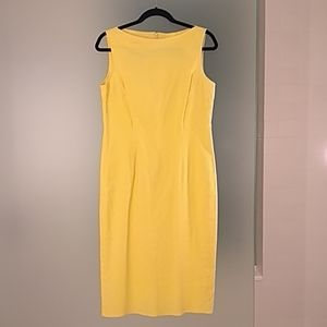 Evan-Picone Sunny Yellow Stretch sheath